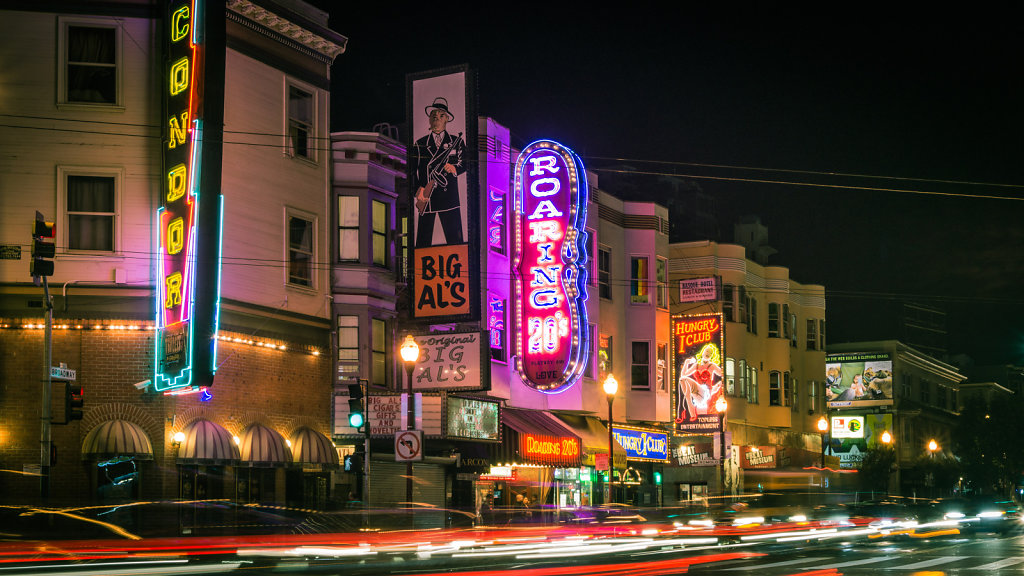 San Francisco's streets by nights